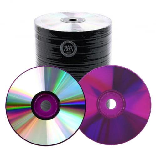 200 Spin-X 48X Purple Bottom CD-R 80min 700MB Shiny Silver