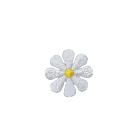 Small - White Daisy - Flower - Iron on Applique/Embroidered Patch
