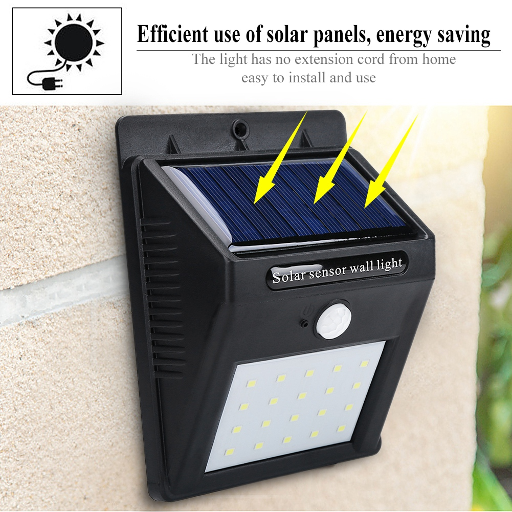 WALFRONT Portable Outdoor Waterproof Solar Power LED Motion Induction Lamp Sensor Light, Waterproof Sensor Light, Outdoor Sensor Light