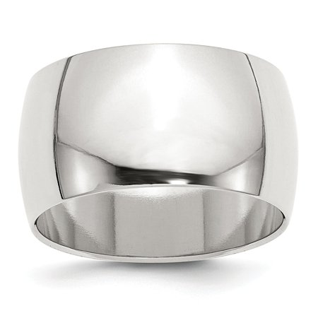 12 Mm Round Ring - Roy Rose Jewelry Sterling Silver 12mm Half Round Size 7 Wedding Band Ring