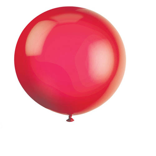 """36"""" Giant Latex Scarlet Red Balloons, 6-Count"""