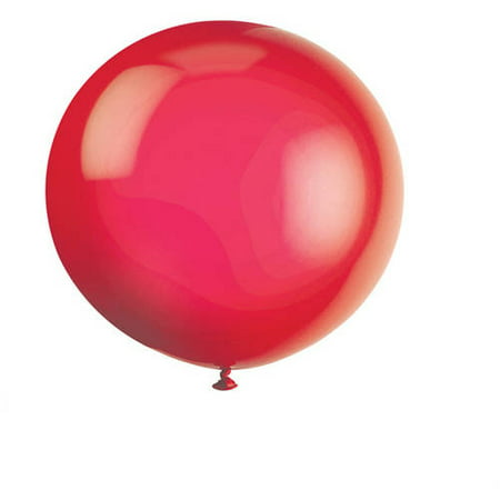 Latex Round Giant Balloons, 36 in, Scarlet Red, 6ct (Red Balloons)