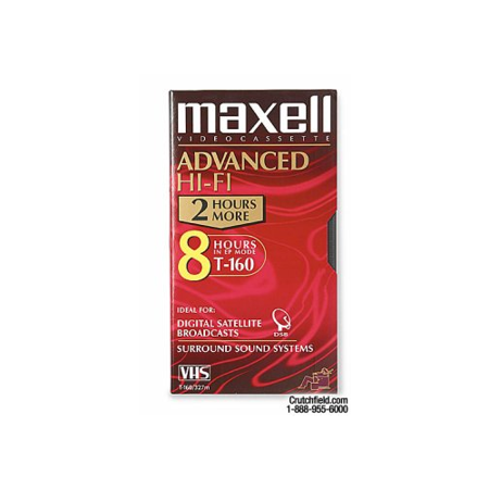 MAXELL T-160XLHF VHS Tape (Package of 1)