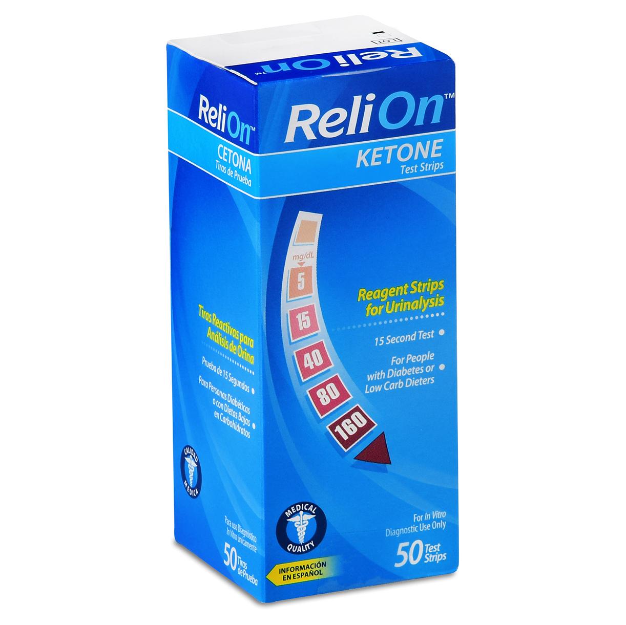 ReliOn Ketone Test Strips, 50 Ct
