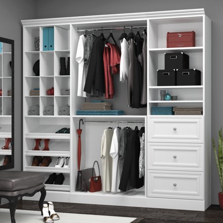 Versatile By Bestar 86 Storage Kit In White Walmart Com