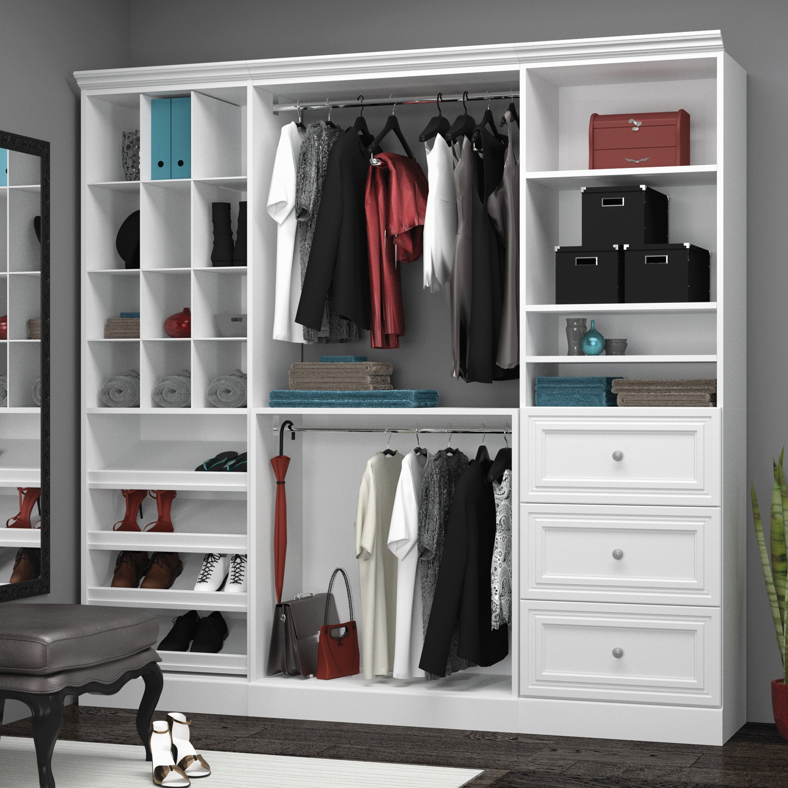 Versatile by Bestar 86'' Storage kit in White