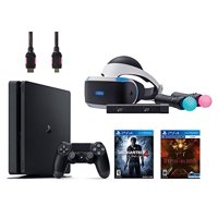 PlayStation VR Start Bundle 5 Items: VR Start Bundle,PS 4 Slim 500GB Console - Uncharted 4,VR game disc PSVR Until Dawn: Rush of Blood