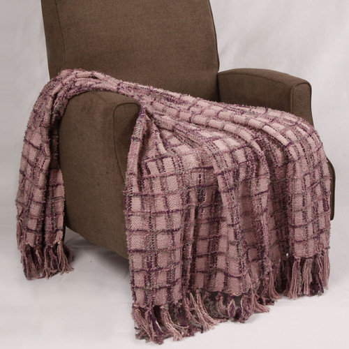 BNF Home Chenille Multi-Colored Throw Blanket