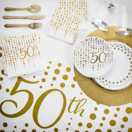 Sparkle and Shine Gold 50th Anniversary Party Kit