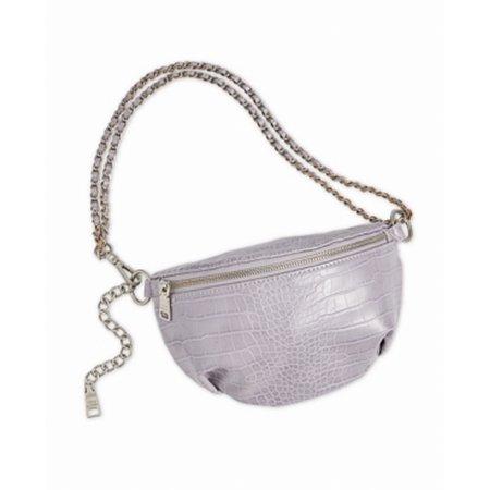 Handbag Purse Lilac Silver Icy Croco Ida Belt Bag One Size Croco Leather Handbags