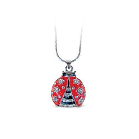 Bug Necklace (Sparkling Necklace - Ladybug)