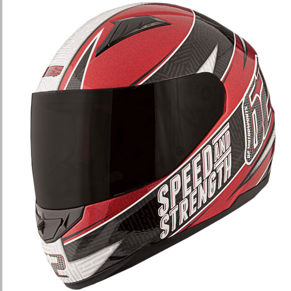 Speed & Strength 62 Motorsports SS1100 Helmet Red/Black XL
