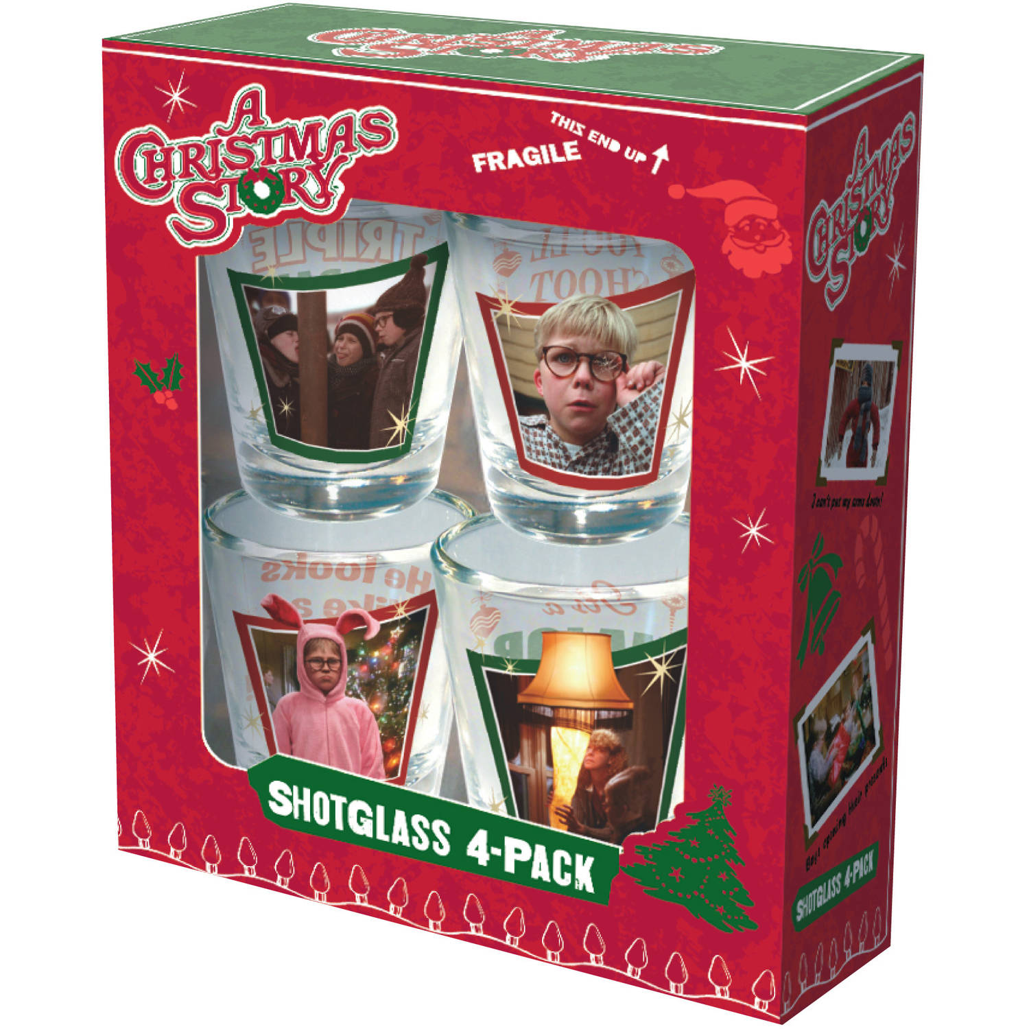 A Christmas Story Full Color Shot Glass 4-Pack by ICUP