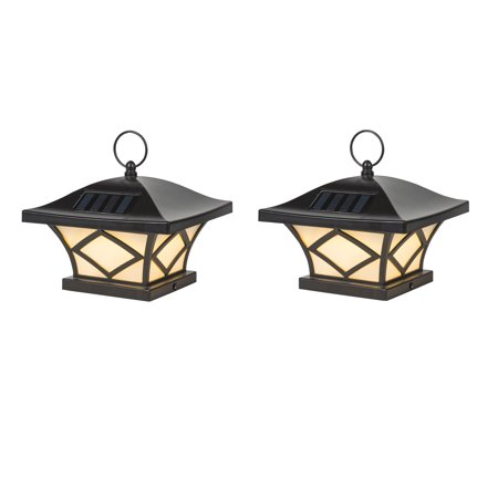 Set of 2 Traditional Solar Post Lights