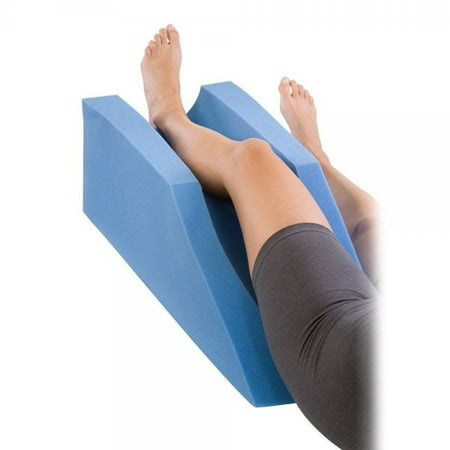 Leg Abductor Cushion - Procare Foam Leg Elevator Cushion - Support and Elevation Pillow for Surgery, Injury, or Rest - 10in Height x 31.5in Length - 79-90191 - Blue
