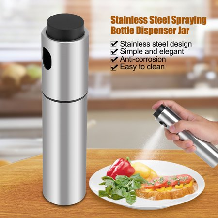 Yosoo Stainless Steel Olive Oil Spraying Bottle Dispenser Sprayer