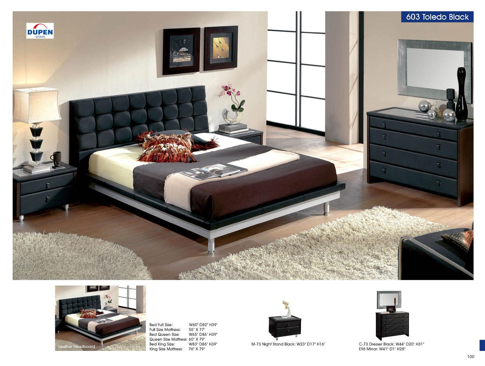 ESF 603 Contemporary Toledo Bedroom Set King Size Bed In ...