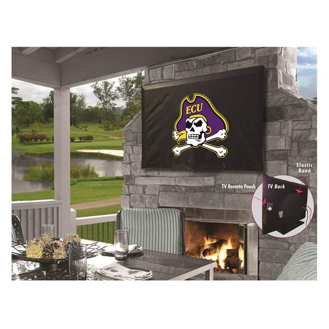 Holland Bar Stool TV50Ecarol East Carolina University Vinyl TV Cover, Black - image 1 of 1