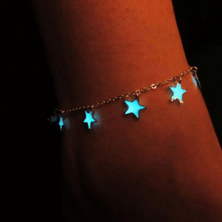 Lanbowo New Summer Luminous Ankle Heart Star Pendant Bracelet Sandal Sexy Beach Leg Chain Women Anklets Jewelry