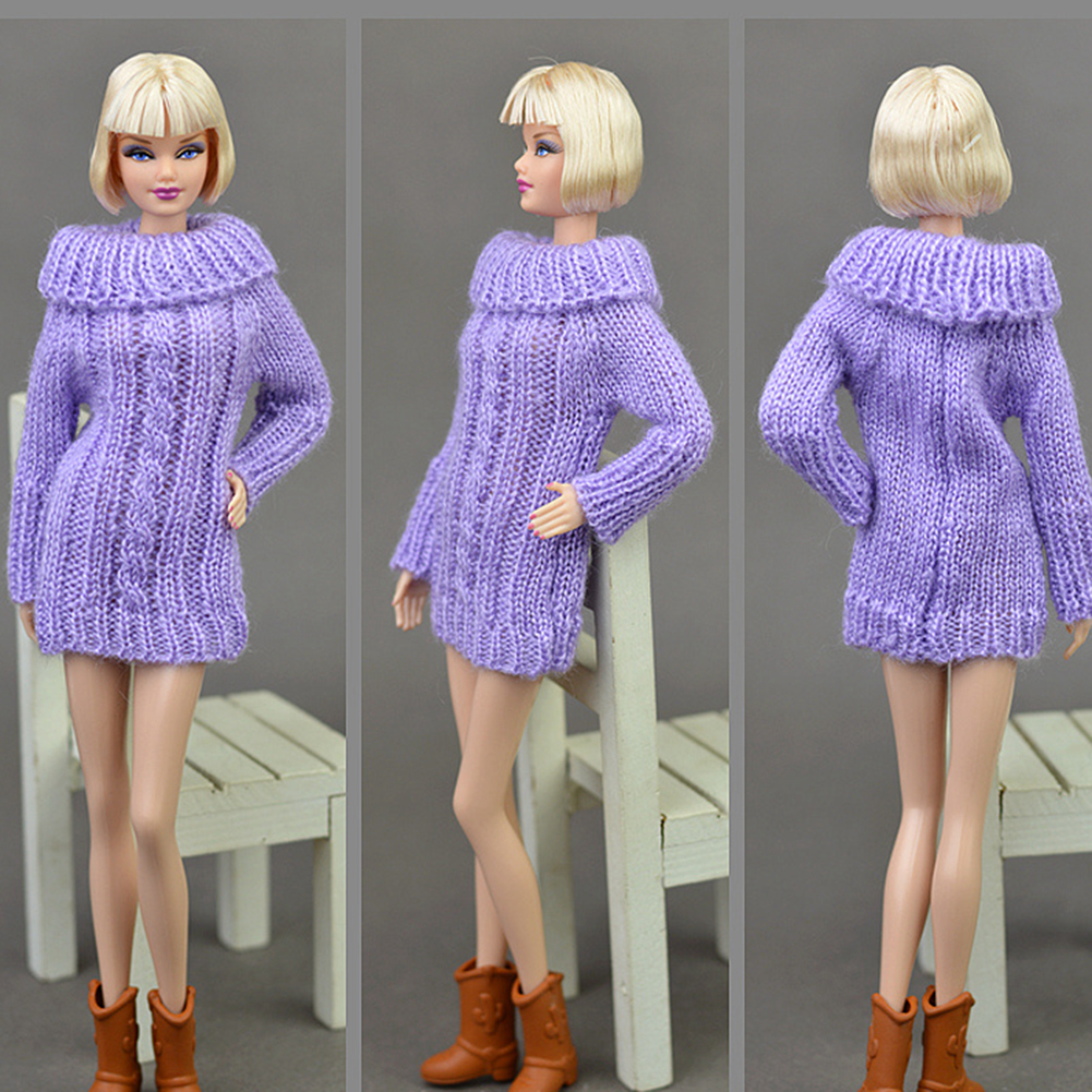 30cm Fashion Knitted Handmade Sweater Clothing for Dolls Style:white - image 5 of 6