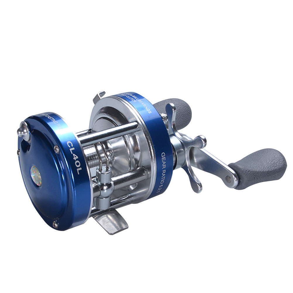 2+1BB Ultra Smooth High Speed Metal Round Baitcasting Reel Baitcaster Reel with Oversized Handle Color:Blue Size:Left Handed