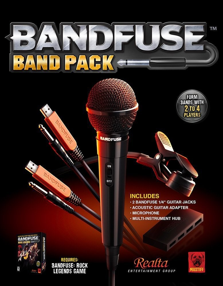 bandfuse rock legends (band pack) ps3 \u0026 xbox 360 BandFuse Audio Adapter