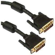 Unirise DVID-MM-06F Unirise DVI-D Dual Link 24+1 Male - Male - DVI for Video Device, Projector, TV - 6 ft - 1 x DVI-D (Dual-Link) Male Digital Video - 1 x DVI-D (Dual-Link) Male Digital Video - Black