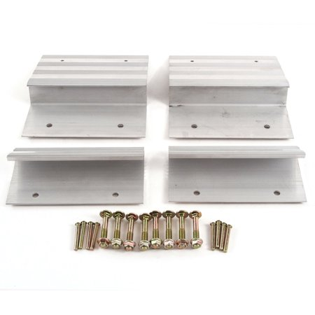 Atv 4 X 4 - Red Hound Auto Ramp Aluminum Truck Top and Bottom End Kit with Hardware Heavy Duty Loading ATV Mower Motorcycle 8 Inches Wide 4 Pieces - Compatible with 2x8 Boards