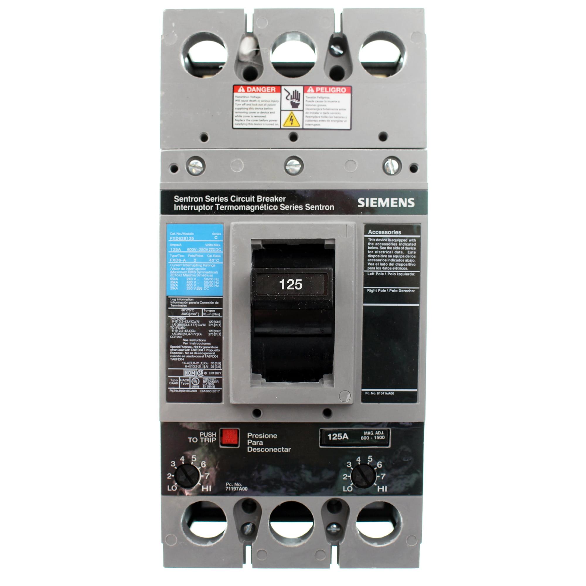 Siemens FXD62B125 125 Amp Type FXD6-A Circuit Breaker
