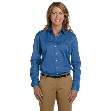 Ladies' 32 Singles Long-Sleeve Twill Button Down Shirt - Chestnut Hill