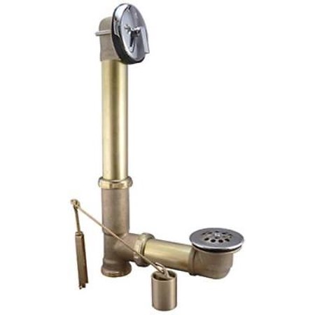 Brass, Trip Lever Bath Drain Assembly, Exposed Parts Chrome Plated,