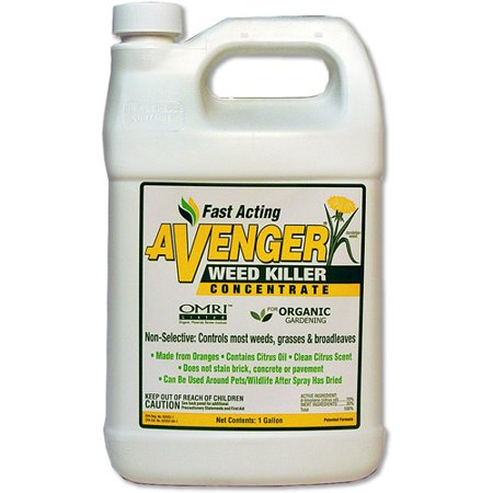 Avenger Organic Weed Killer 1-Gallon Concentrate (Best Organic Weed Killer)
