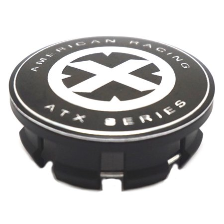 ATX Series Black/Chrome Snap-In Wheel Center Hub Cap 5 6 Lug for AX194 Ravine Series 6 Lug