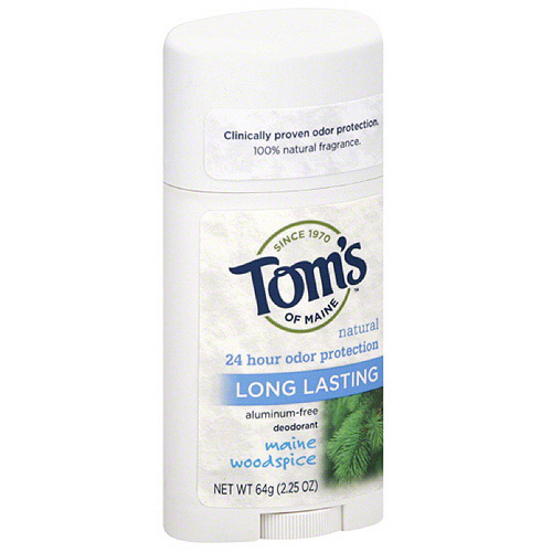 Tom's of Maine Maine Woodspice Long Lasting Aluminum-Free Deodorant, 2.25 oz, (Pack of 6)