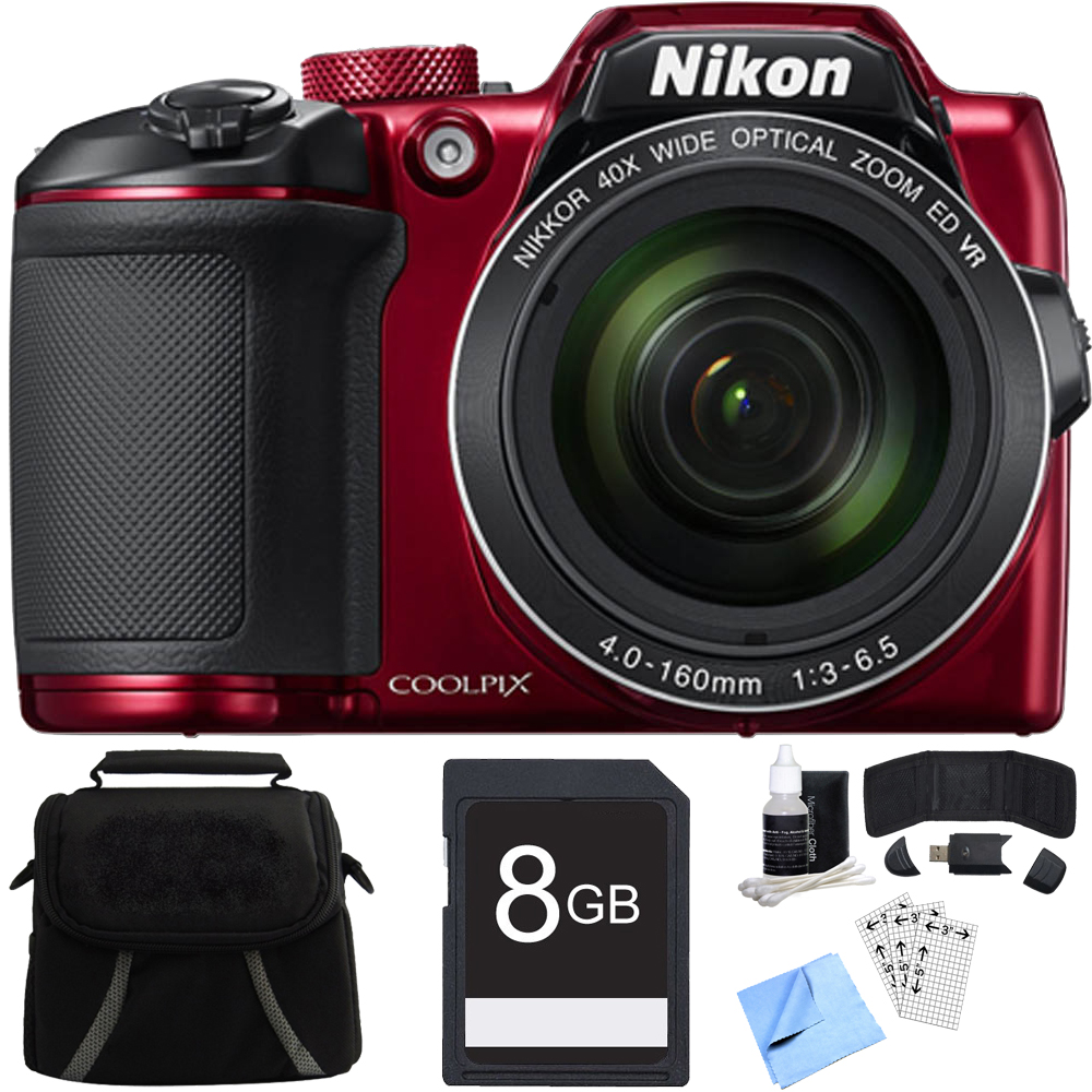 Nikon COOLPIX B500 16MP 40x Optical Zoom Digital Camera w/ Built-in Wi-Fi 8GB Bundle