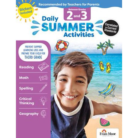 Daily Summer Activities : Moving from 2nd Grade to 3rd Grade, Grades 2-3