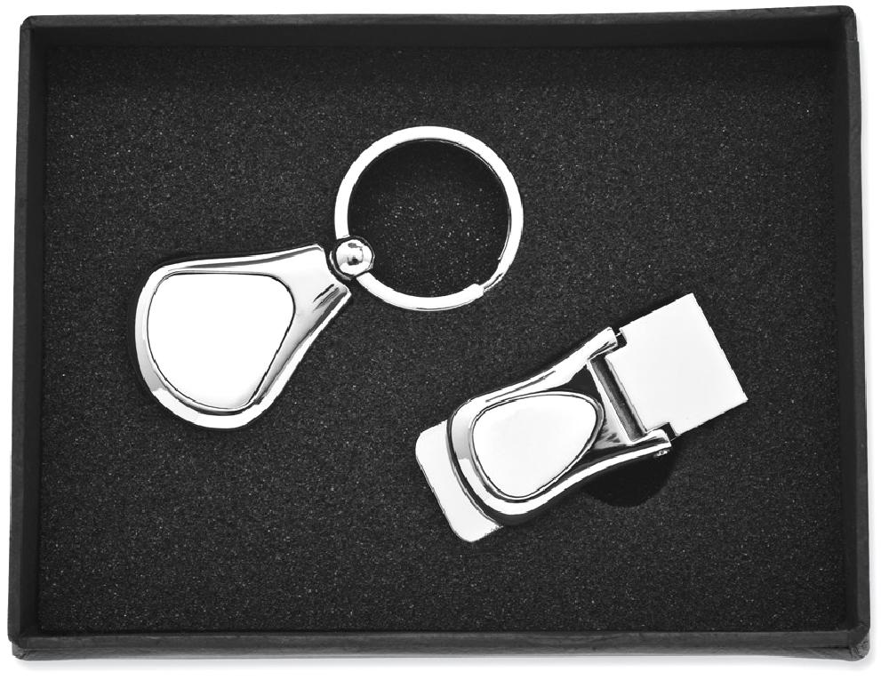 ICE CARATS ICE CARATS Nickel Plated Key Band Ring Money Clip Set Man Fashion Jewelry Dad Mens Gift Set by IceCarats