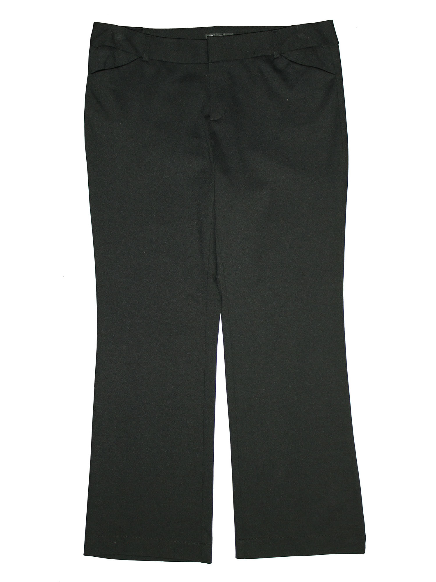 INC Works Women's Plus Straight Leg Pants Slacks 24w Petite Deep Black