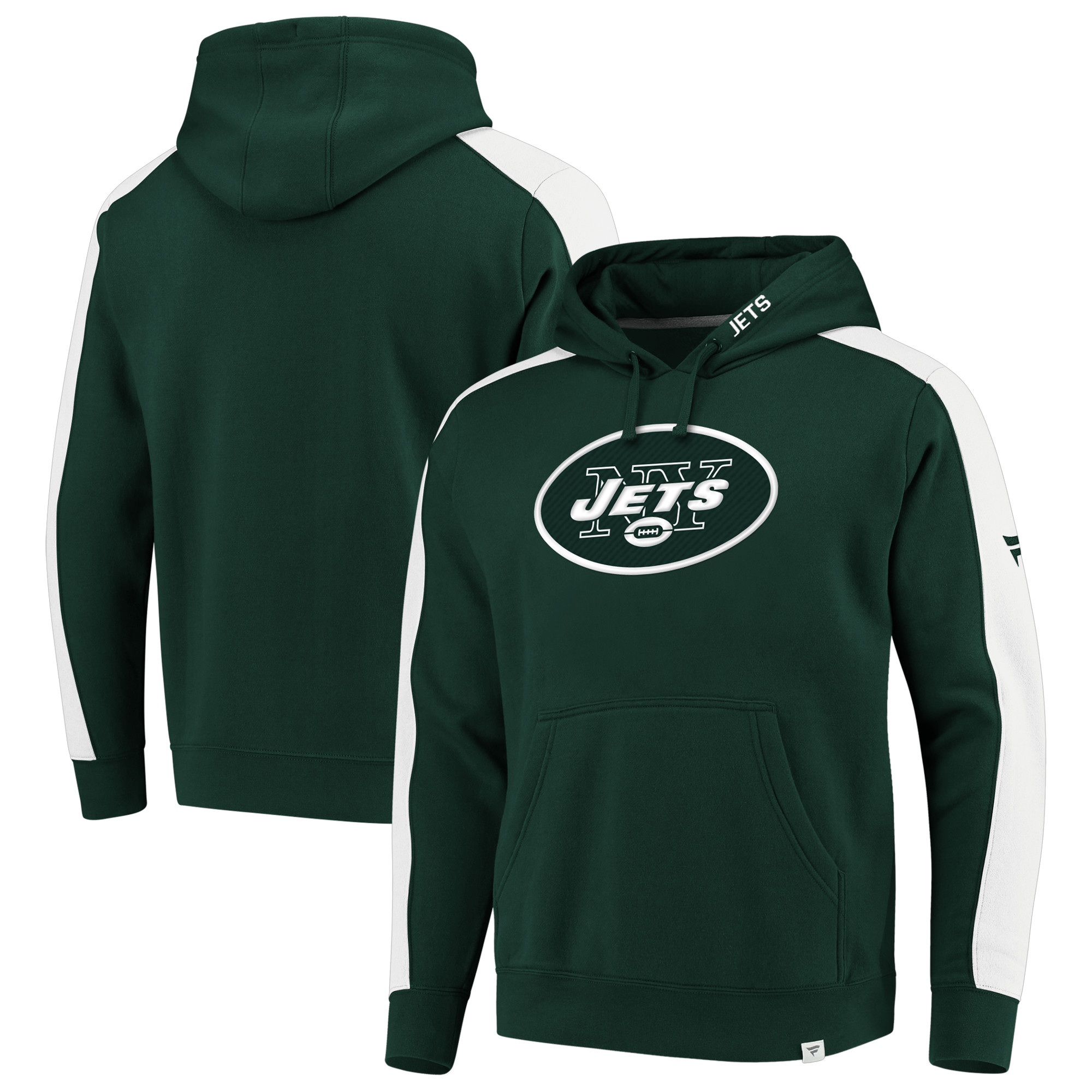 New York Jets NFL Pro Line by Fanatics Branded Iconic Pullover Hoodie - Green/White - 5XL