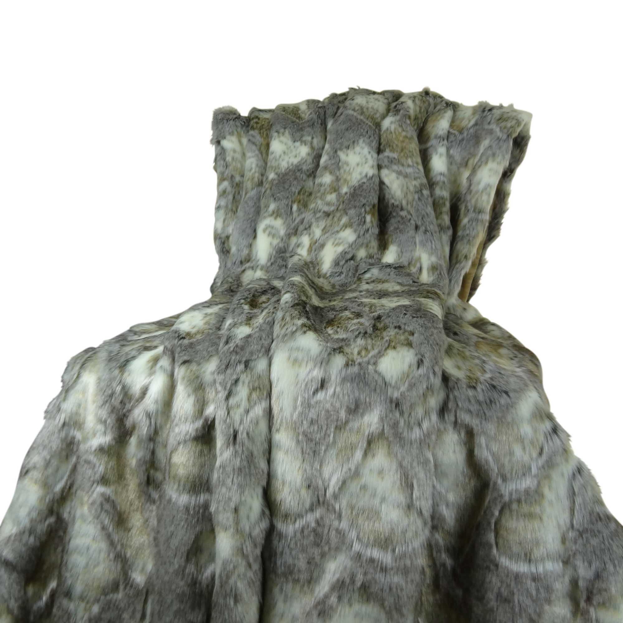 Plutus Faux Rabbit Fur Throw