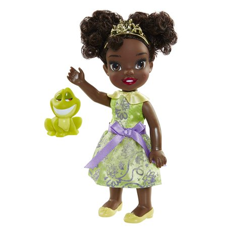 Disney Princess Petite Doll - Tiana And Frog, Pocket-sized exclusive Tiana Petite Princess Doll, dressed in her beautiful ball gown with her.., By Jakks Pacific UK
