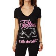 Rebel Threadz Women's Tattoo Graphic T-Shirt