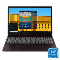 "Lenovo ideapad S145 15.6"" Laptop, Intel Celeron 4205U Dual-Core Processor, 4GB Memory, 128GB Solid State Drive, Windows 10 - Dark Orchid - 81MV00MAUS"