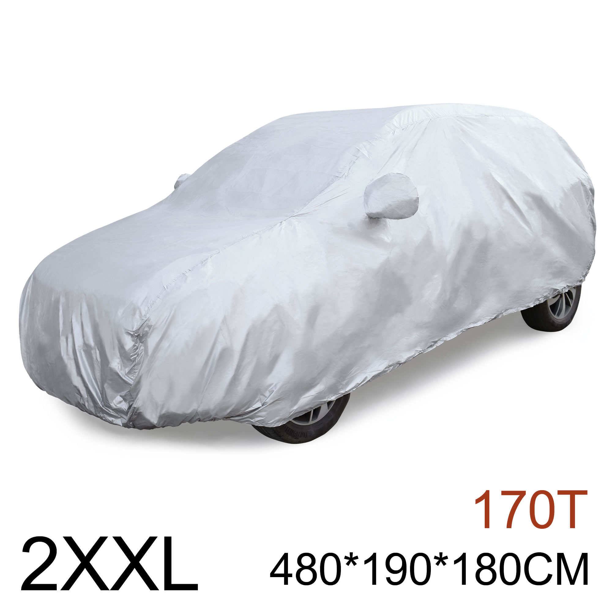 2XXL 170T Car Cover Weather Waterproof Scratch Rain Snow Heat Resistant
