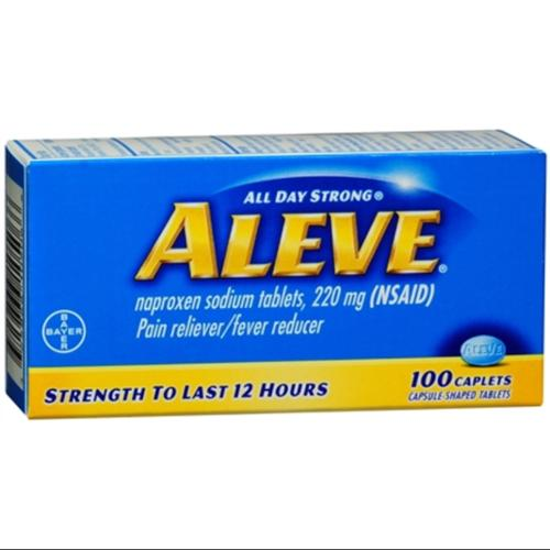 Aleve Caplets 100 Caplets (Pack of 2)