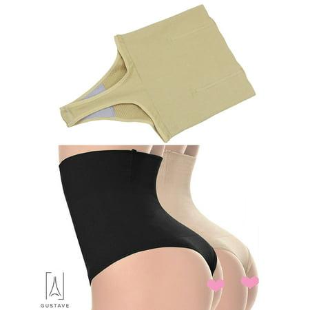 "GustaveDesign Womens Shapewear Panties Bodysuit Body Shaper High Waist Tummy Control Seamless Strapless Slimming Panty Briefs ""S,Beige"""
