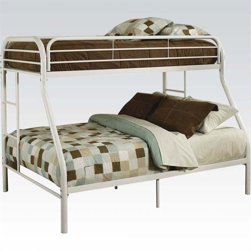 Rosebery Kids Twin Over Full Bunk Bed in White