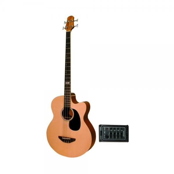 Trinity River OB3CENSZ Eagle Acoustic Electric Bass Guitar with Spruce Top by