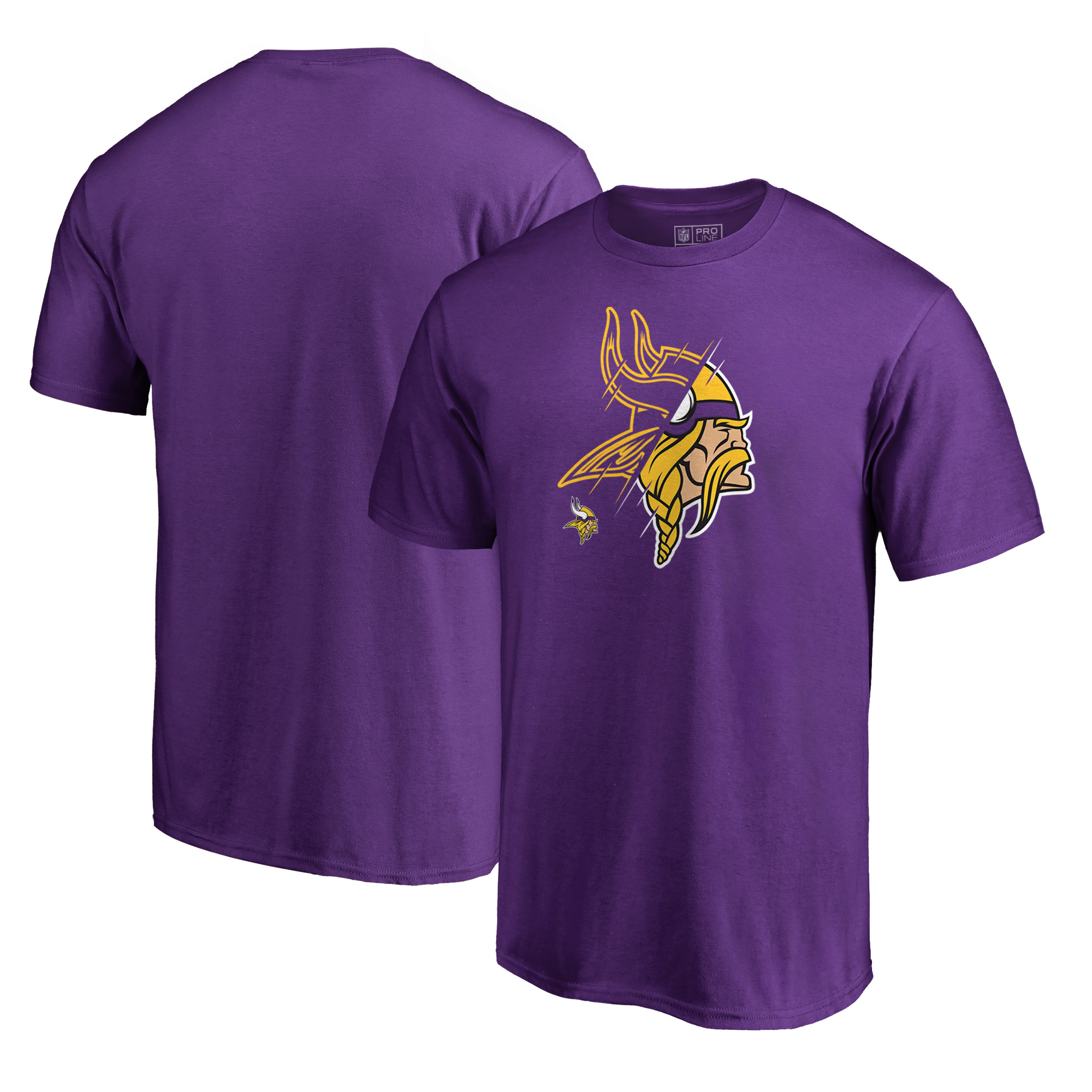 Minnesota Vikings NFL Pro Line by Fanatics Branded X-Ray T-Shirt - Purple