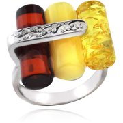 Sterling Silver Cylinder Shape Ring, Size 8